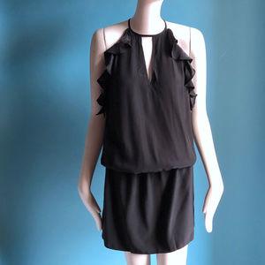 Amanda Uprichard Dresses - Black Satin Crepe Amanda Uprichard Dress sz P XS